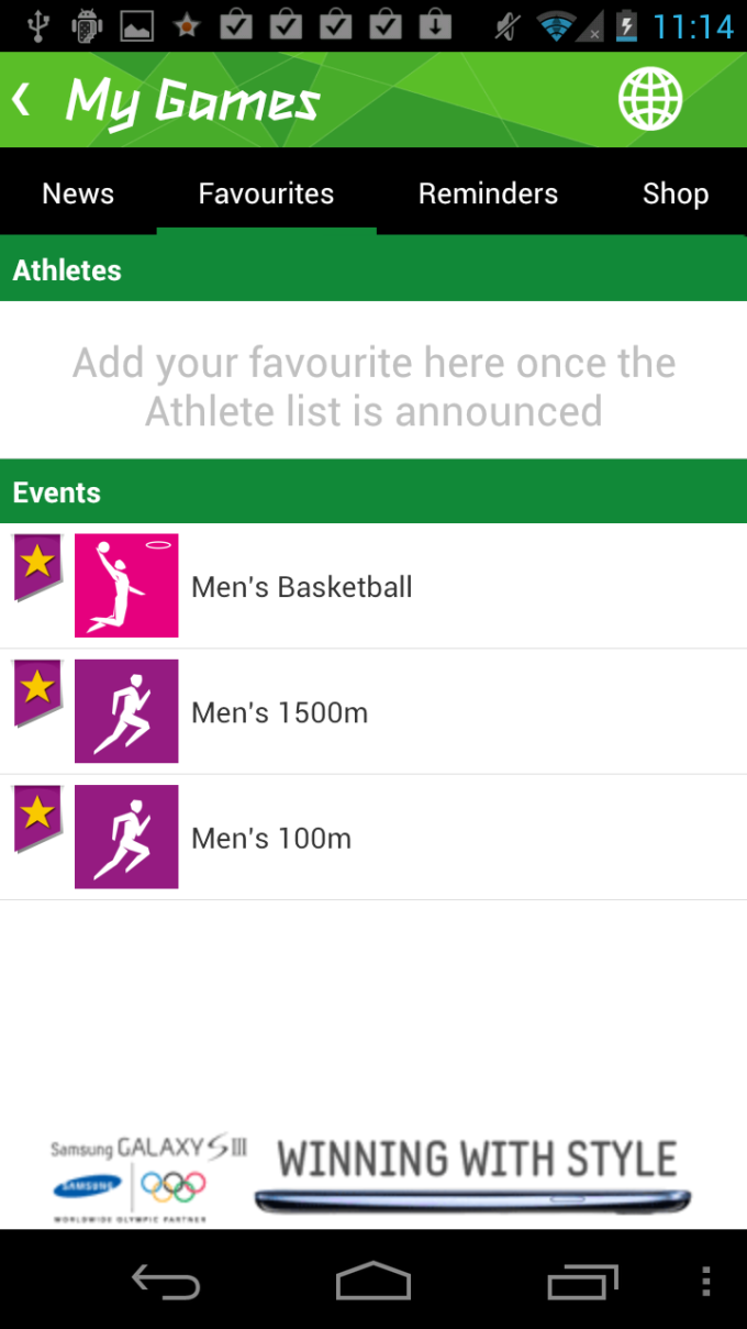 Results Official London 2012 App