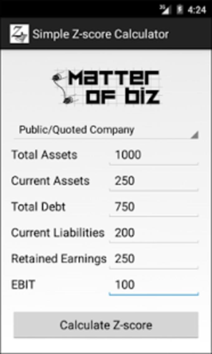 Simple Z-score Calculator