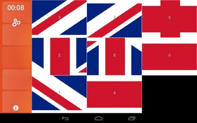 World Flags Quiz Slide Puzzle