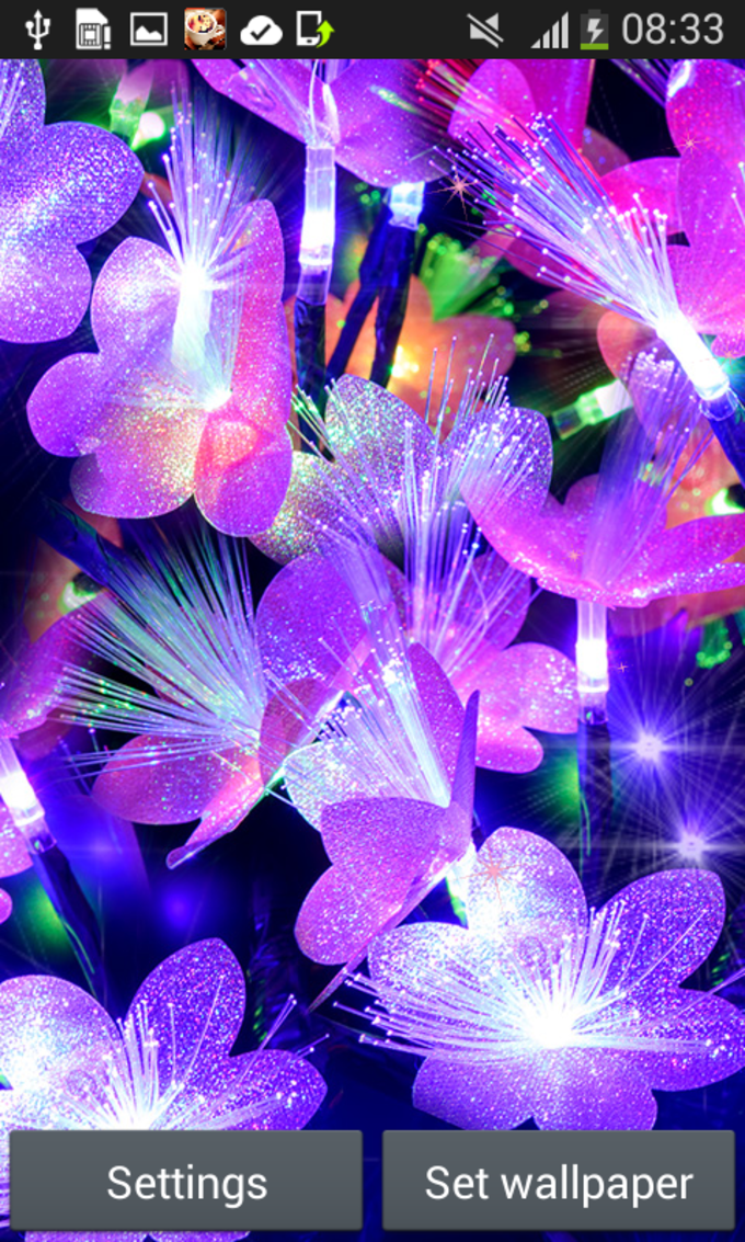 Glow Flowers Live Wallpapers