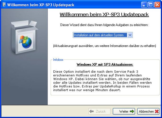 Windows XP SP3 Updatepack