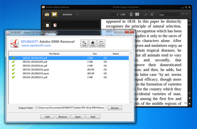 Epubsoft Adobe PDF ePub DRM Removal