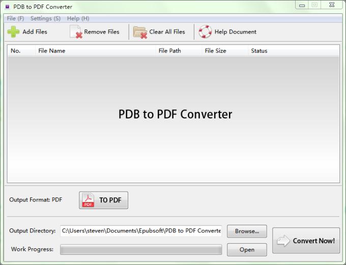 PDB to PDF Converter