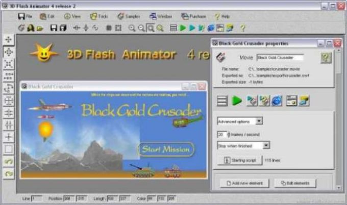 3D Flash Animator
