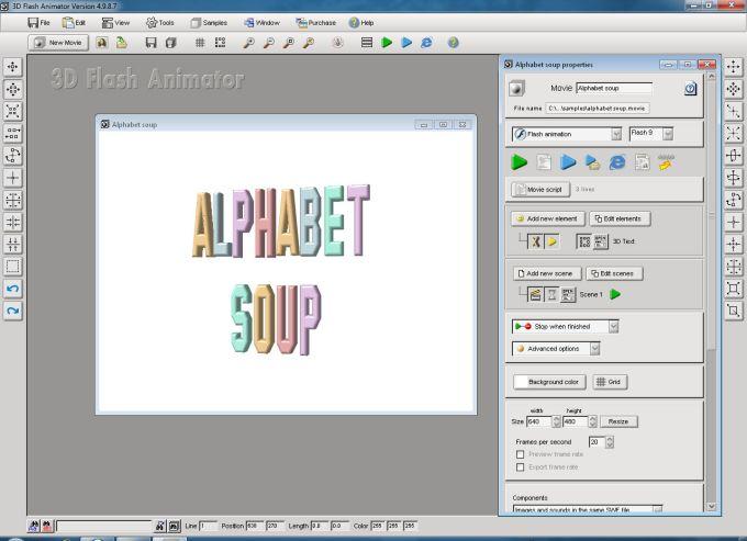 3D Flash Animator