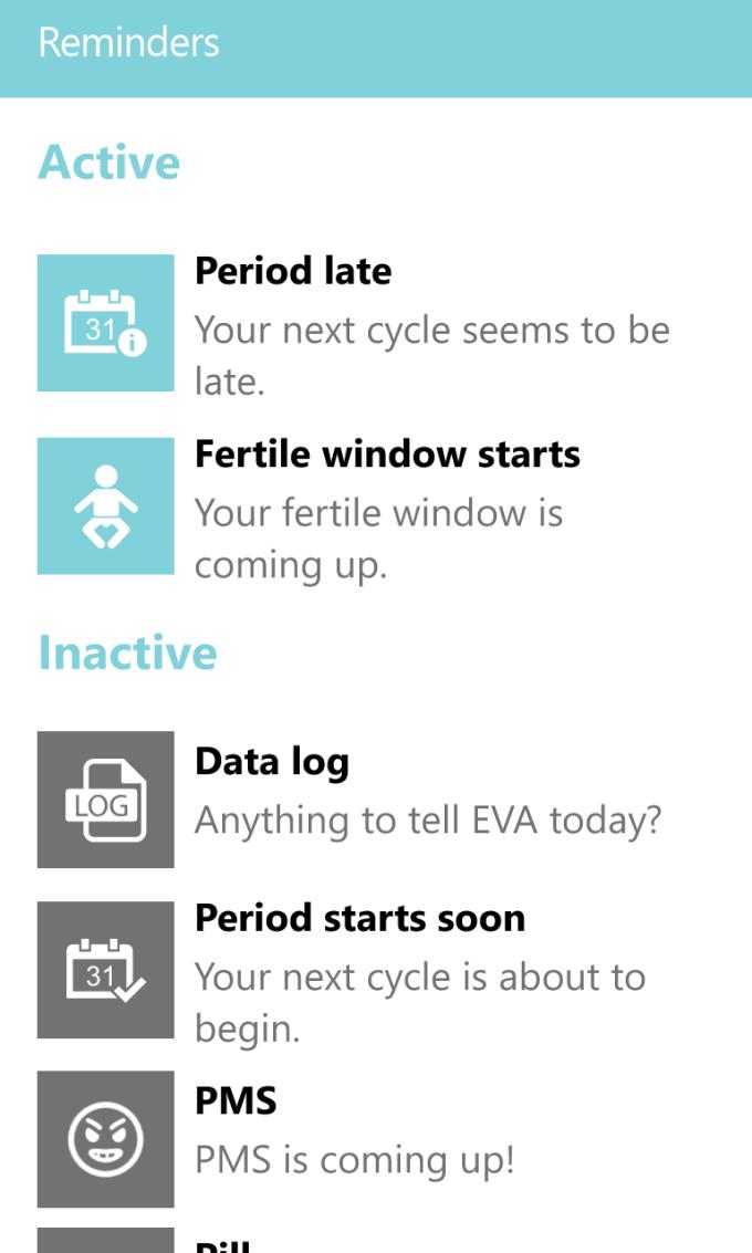 EVA Period Tracker