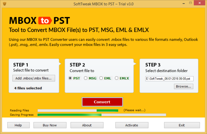 SoftTweak MBOX to PST
