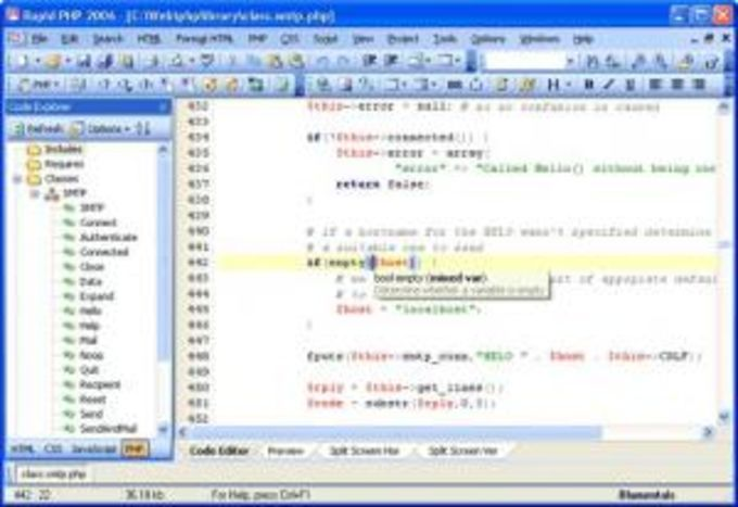 Rapid PHP Editor 2006