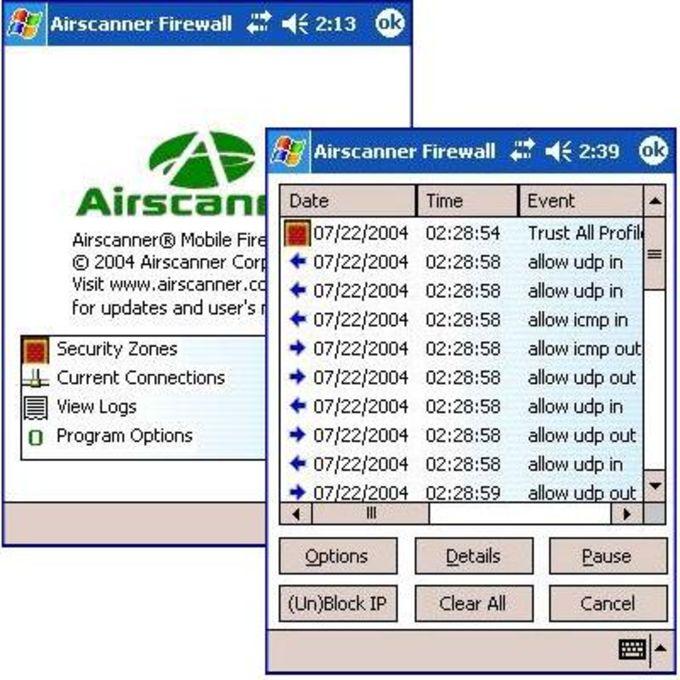 AirScanner Mobile Firewall