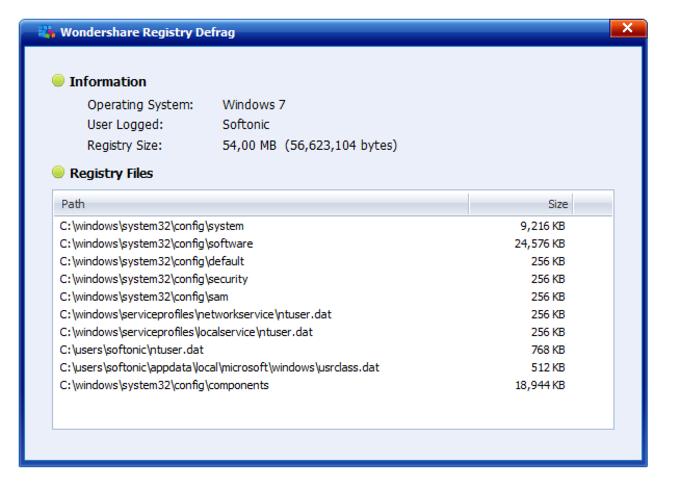 Wondershare Registry Defrag