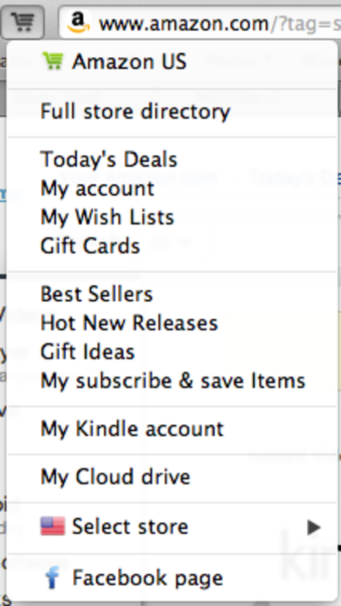 1-click to Amazon Safari extension