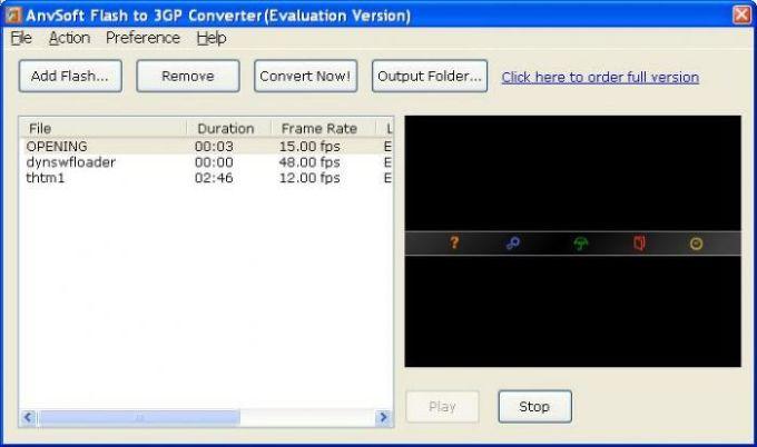 Flash to 3GP Converter