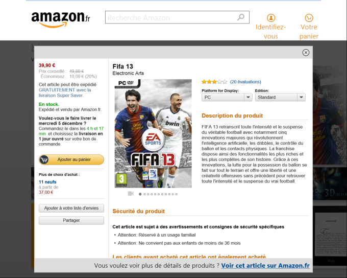 Amazon pour Windows 10