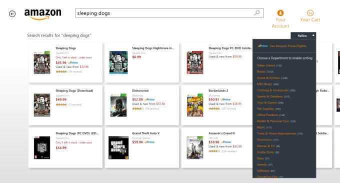 Amazon para Windows 10