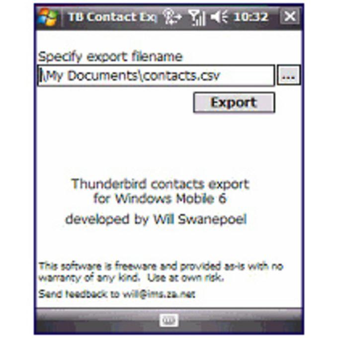 Thunderbird Contacts Export