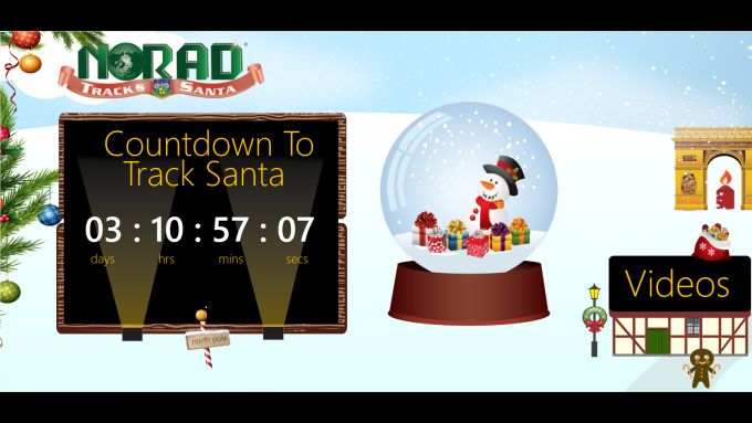 NORAD Tracks Santa for Windows 10