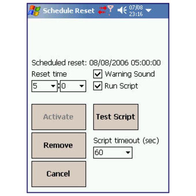Schedule Reset
