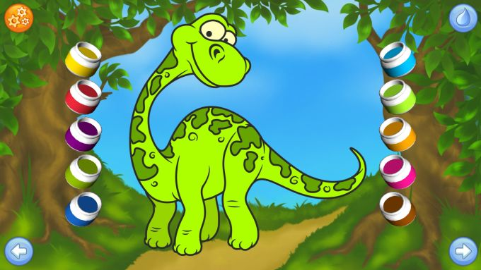 Dinosaurs - Connect the Dots and Add Colors
