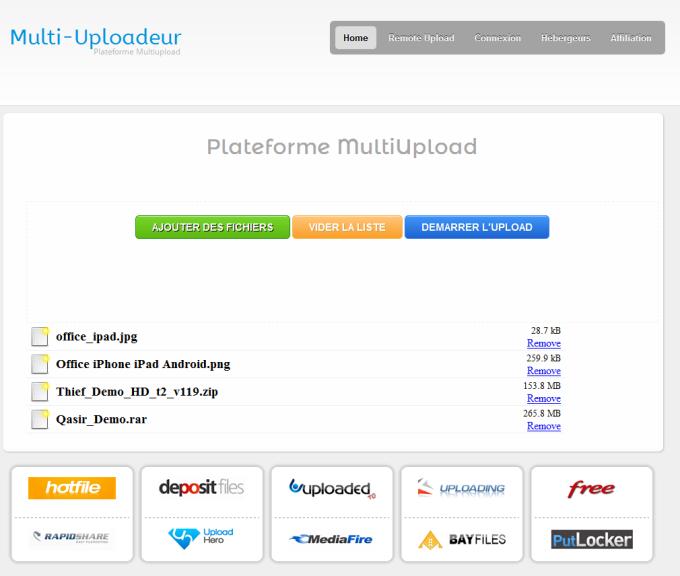 Multi-Uploadeur