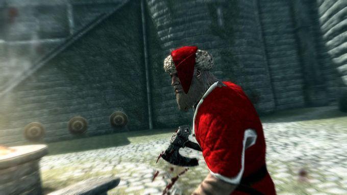Skyrim Santa Claus