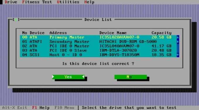 IBM - Hitachi Drive Fitness Test