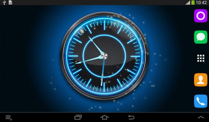 Azul Reloj de neón