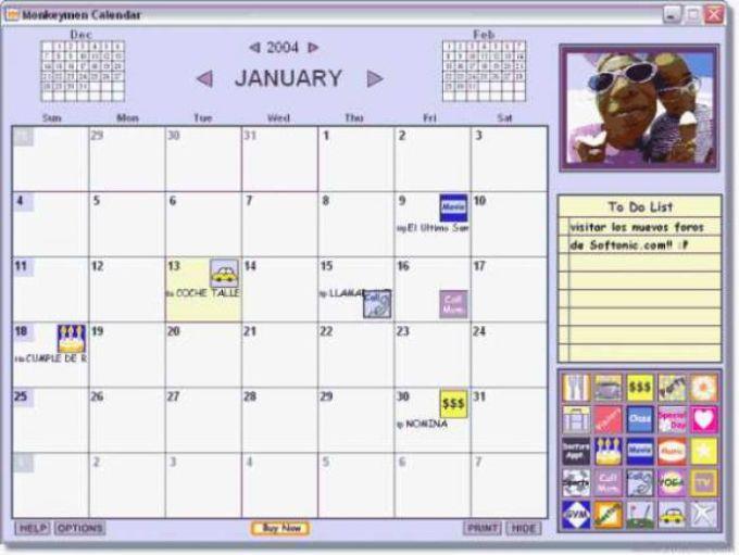 Monkeymen Calendar