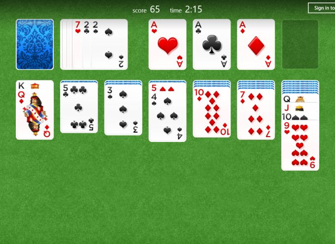 Solitaire for Windows 10