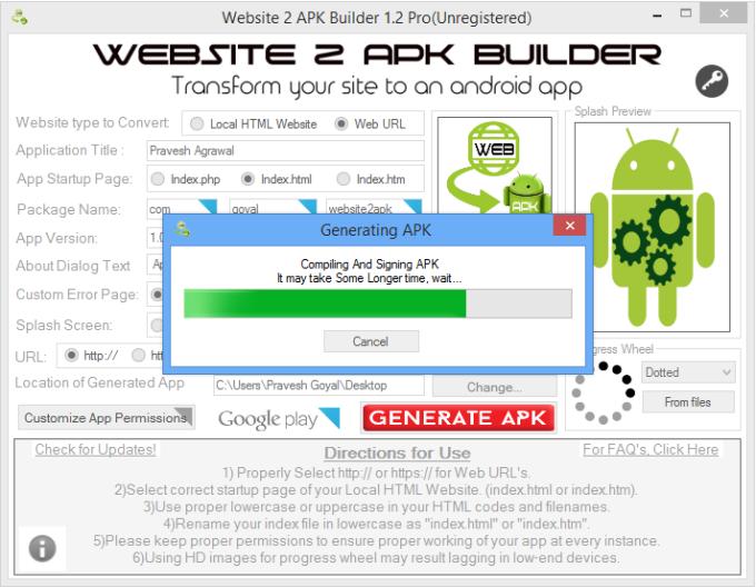 Website 2 APK Builder