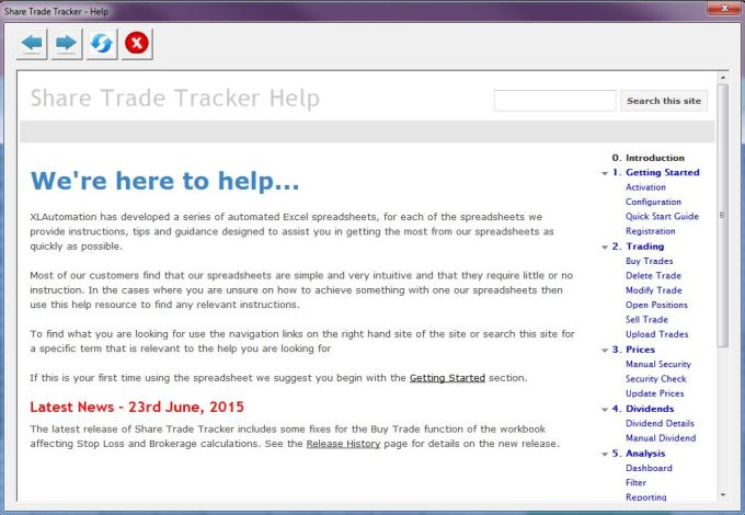 share trade tracker download