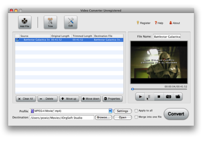 iOrgSoft Movie Converter for Mac