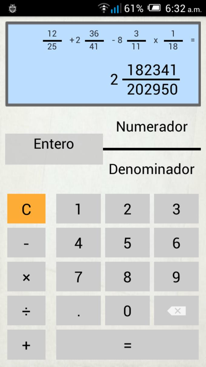 Calculadora de Fracciones