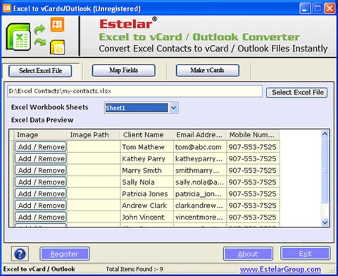 vCard Converter