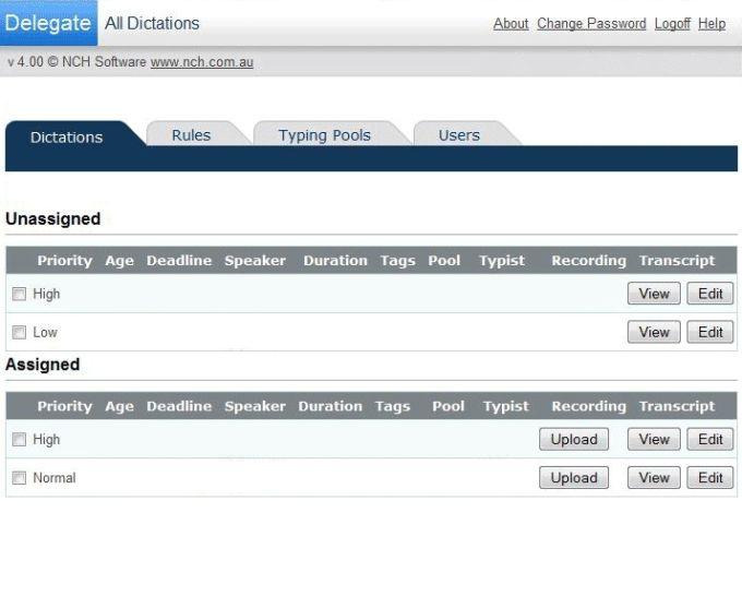 Express Delegate Dictation File Manager