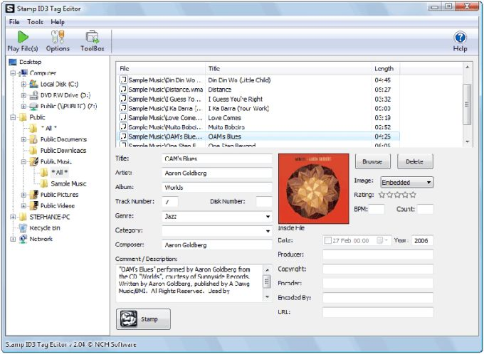 Stamp ID3 Tag Editor
