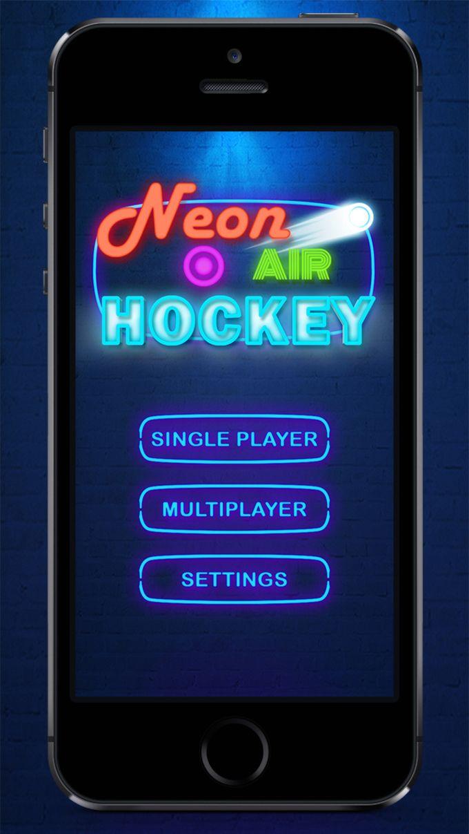 Hockey sobre hielo : Ice Hockey HD - Air Hockey Neon Perfect Light Animation