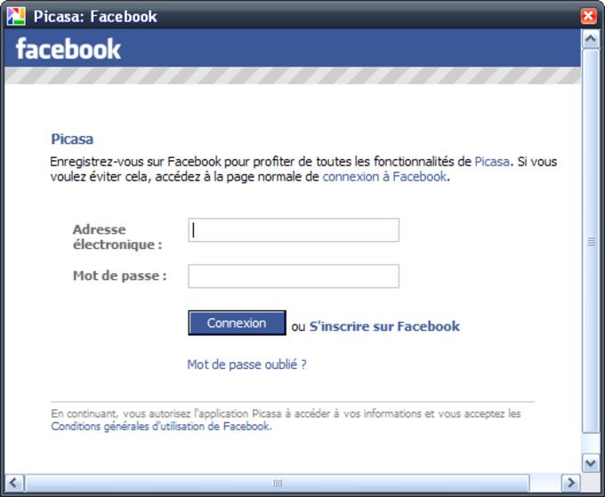 Picasa Facebook Uploader