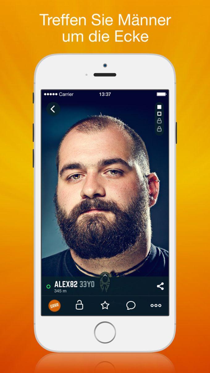 Grrr: Gay-Chat und Dating-App, soziales Netzwerk für Männer, Bären, Bisexuelle