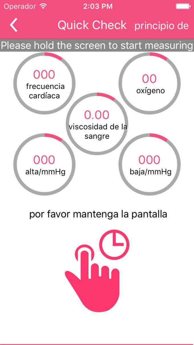 Care Monitor de la salud ? medir la presión arterial, visión, frecuencia cardíaca y el oído con teléfono móvil.