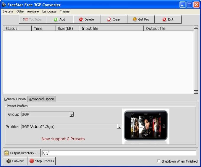 FreeStar 3GP Converter