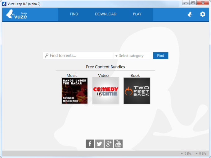 Vuze Leap Bittorrent Client Beta