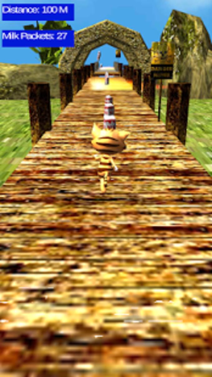 Gatito de obstáculos Run 3D