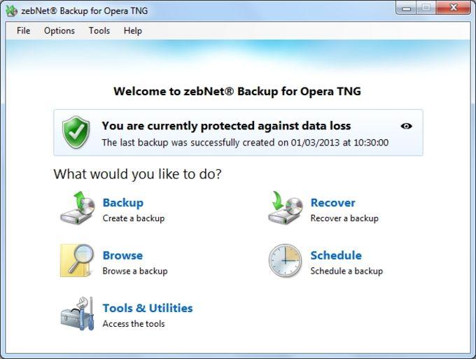zebNet Backup for Opera TNG
