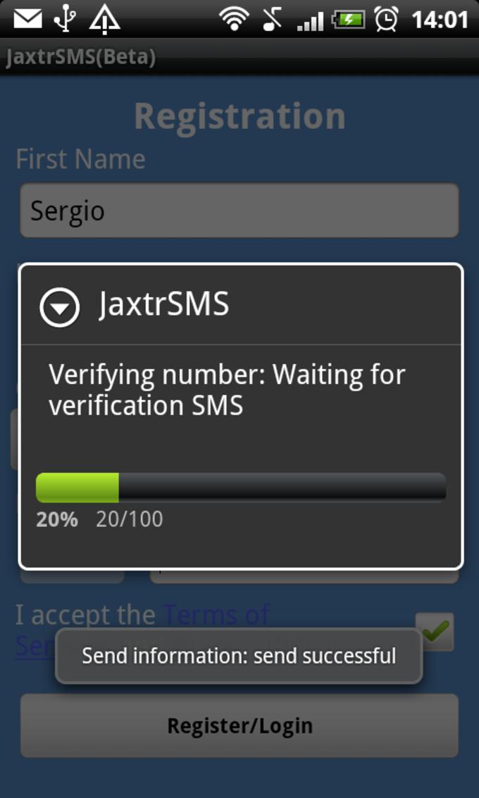 JaxtrSMS