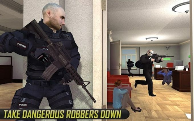 NY Police Battle Bank Robbery Gangster Squad