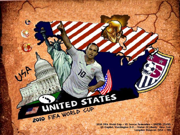 USA FIFA World Cup 2010 Fan Wallpaper