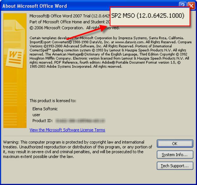 Microsoft Office 2007 Service Pack 2