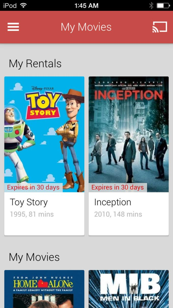 Google Play Filmes & TV