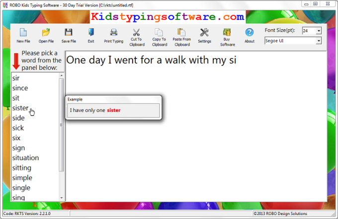 ROBO Kids Typing Software