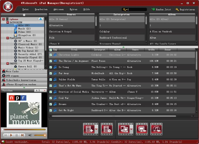 4Videosoft iPad Manager